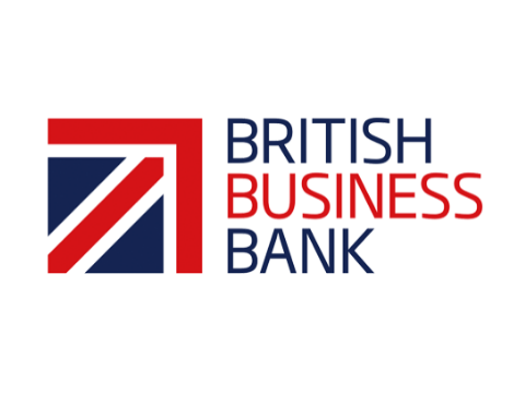 British Bank written on white background
