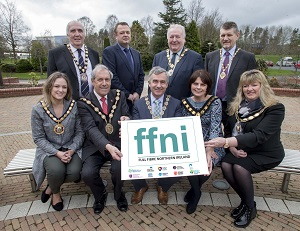 Photo of Mayors with FFNI poster
