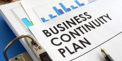 Business Continuity Plan written on a piece of paper