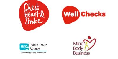 Chest Heart and Stroke logo with well checks logo