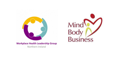 workplace health group logo and mind body business written on white background