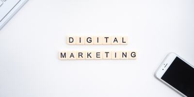 Digital Marketing Written on Scrabble Tiles