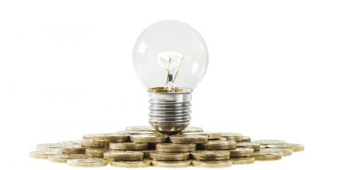 Money and lightbulb