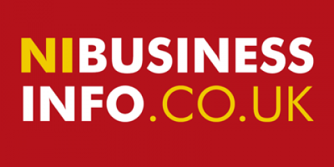 NI Business Info logo on red background